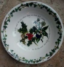 New Portmeirion Pasta Bowl / Dish Holly and The Ivy  pattern diameter 9""