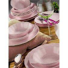 Kütahya Porselen Bergama 24 tlg 6 Pers. Ess-Service Tafelservice Rosa Dinner Set