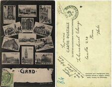 2140-BELGIO, GAND, 12 MINI VEDUTE, 1908