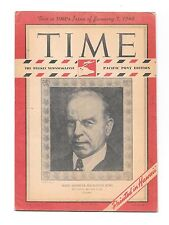 Time Magazine Pacific Pony Ed. Jan 7, 1946. Prime Minister Mackenzie King. WWII.