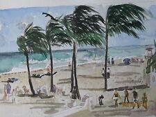 "Original Watercolor/ Hollywood Beach,Hollywd.Bch, FL/10""x14""/Mimi Davis, Artist"
