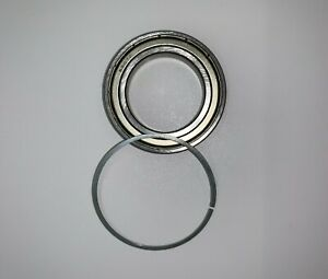 4X 6907 ZZ  Ball Bearing 35mmX55mmX10mm Double Shielded Metal W/Snap Ring NEW