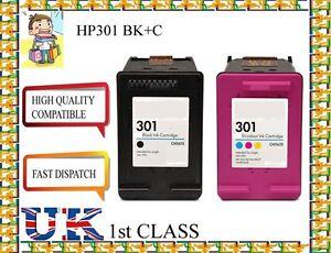2 HP 301 Black And Colour Ink Cartridges For HP Deskjet 2540