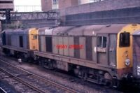 PHOTO  CLASS 20 DIESEL  20134 & 20075  AT WALSALL ON 21/09/78.