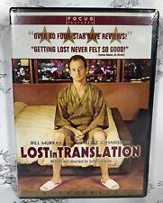 Lost in Translation Dvd 2003 Bill Murray Scarlett Johansson New and Sealed