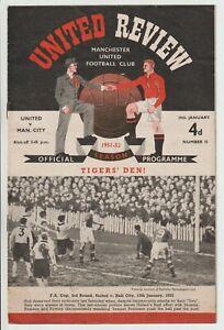 Manchester United V Manchester City Rare Division One 1951/52 Man Utd Champions