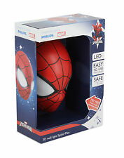 Philips Marvel Spiderman 3d LED Wall Light Including 3aa Batteries