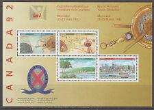 CANADA #1407a Canada '92 Souvenir Sheet MNH
