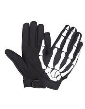Mens Skull Skeleton Design Mechanics Motorcycle Biker Gloves Touch Technology