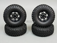 Gmade 1/10 SCALE TRUCK RIMS 1.9 BEADLOCK WHEELS W/ 110MM SWAMPERS BLACK (4PCS)