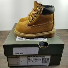 """Timberland 6"""" Wheat Brown Boots Toddler's Boy's Size:4C with Box"""