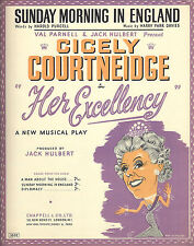 """Cicely Courtneidge """"HER EXCELLENCY"""" Harry Parr Davies 1949 London Sheet Music"""