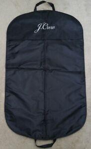 J.CREW garment bag black water resistant clothes travel blazer suit jacket gift