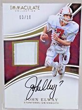 2016 Panini Immaculate JOHN ELWAY AUTO GU PATCH SSP #3/10 Stanford/Broncos