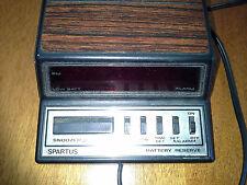 Vintage Spartus Neptune LED Alarm Clock - Model 1104 Classic Woodgrain & Metal