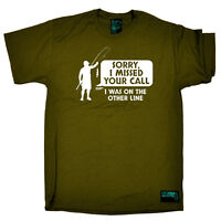 Fishing T-Shirt Funny Novelty Mens tee TShirt - Sorry I Missed Your Call