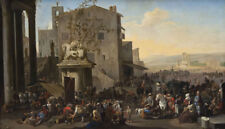 "perfect 48x24 oil painting handpainted on canvas"" Forum Romanum""N11209"