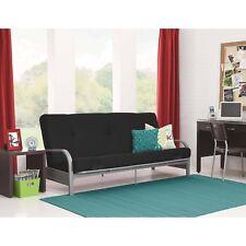 Mainstays Silver Metal Arm Futon Frame Full Size Mattress Living Room Furniture