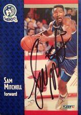 Sam Mitchell Autographed Fleer 1991 Basketball Card #123 Minnesota Timberwolves