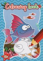 Colouring Book-Malbuch für Kinder-Seepferdchen, Krake, Krabbe und v. andere #266
