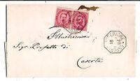 Esperia Inf. - Annullo Collettoria - viaggiata per Caserta  nel  1884