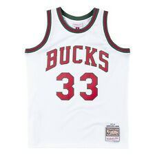 abb2bffe2 Milwaukee Bucks  33 Abdul-Jabbar Mitchell Ness NBA Mesh White 1971-72 Jersey