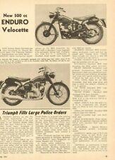 1955 New 500cc Enduro Model Velocette 1-Page Article