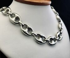 STERLING SILVER 925}  GUCCI PUFFED CHAIN NECKLACE 11MM 20