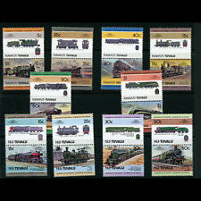 TUVALU Trains. 10 Pairs (20 Values). Mint Never Hinged. (AT210)