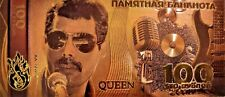 Queen Freddie Mercury Gold- plated Banknote