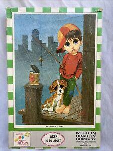 SEALED Vtg 1970 Big Eyes Dog Puppy Puzzle Tykes Lee MB 500 Keane No Bites Today