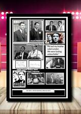 More details for (#335) the kray twins ronnie & reggie kray signed a4 photo//framed (reprint) @@