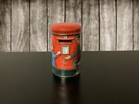 Churchills of London Toffee Heritage of England Post Box Tin Coin Bank VTG Empty