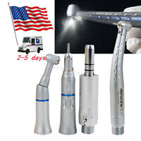 Dental Handpiece Set 2H Push 1 fIber LED High Speed Cartridge +low Speed