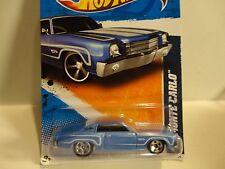 2011 Hot Wheels #106 Blue '70 Monte Carlo w/5 Spoke Wheels