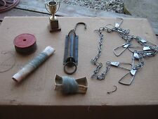 Vintage Fishing Metal Fish Stringer Lander's Spool Trophy Lots Nautical Decor