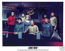 Star Trek Cast of 8 Autograph Signed PP Photo Poster