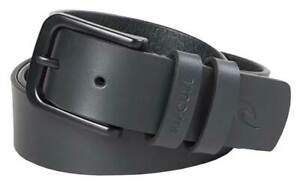 Rip Curl Cut Down Leather Belt - Black - New