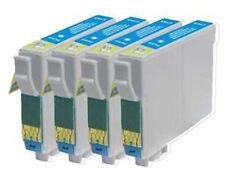 4 Light Cyan Cartridges P50 R265 R285 R360 RX560 T0805 Compatible Inks