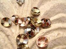 7265JW Bead Cap, Cone, Silver Copper Gold plated Stainless Steel  7mm,  100 Qty
