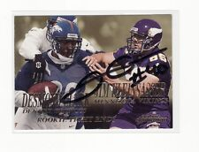 JIM KLEINSASSER AUTOGRAPHED MINNESOTA VIKINGS ROOKIE CARD NORTH DAKOTA