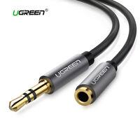 Alargador cable audio auxiliar Jack 3.5mm macho hembra UGREEN extensor aux negro