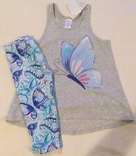 Girls Gymboree 2-pcs Outfit, Size 5T, (NWT), Tank/ Capri's, Glittery Butterfly