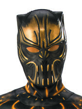 Child Black Panther Killmonger Gold Panther Villain Boys Half Face Mask