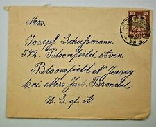 1925 German Cover - Munich to Bloomfield, New Jersey, USA