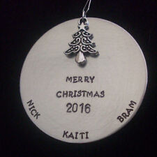 Personalized Family Christmas Tree Ornament with Family Names HANDMADE