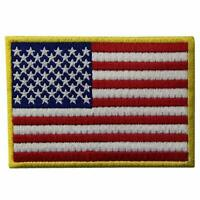 GOLD EMBROIDERY USA UNITED STATES OF AMERICA FLAG IRON SEWON JEANS CLOTHES PATCH