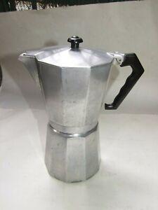 Vintage ALPU ITALY Aluminium Espresso Coffee Percolator  5 cups Stovetop VGC