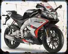 APRILIA Rs4 50 14 01 A4 Metal Sign moto antigua añejada De