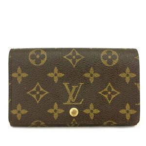 Louis Vuitton Monogram Porte Monnaie Billets Tresor Bifold Wallet /C0634